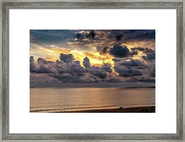 Golden Surf - Point Dume, California Framed Print