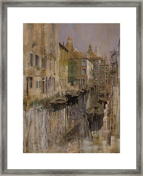 Golden Venice Framed Print