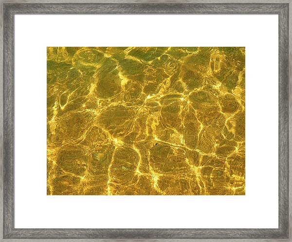 Golden Wave Framed Print