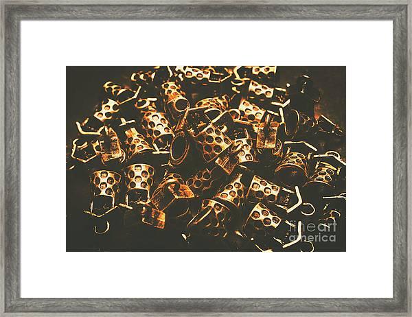 Golden Wells Framed Print