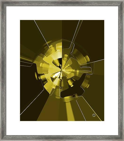 Golden Wheels Framed Print