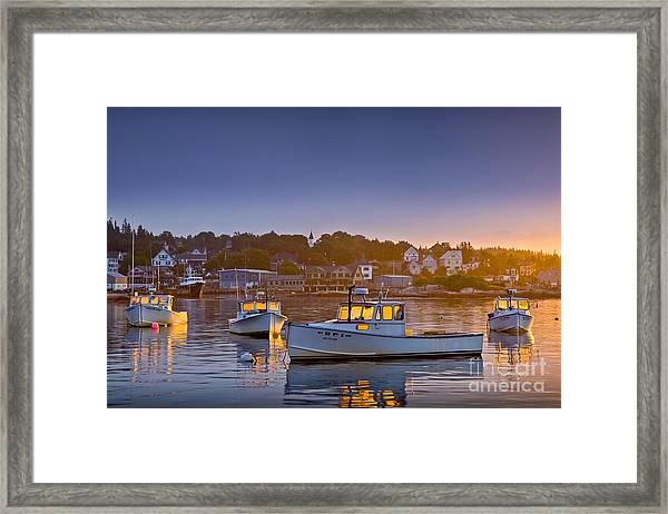 Framed Print featuring the photograph Golden Windows by Susan Cole Kelly