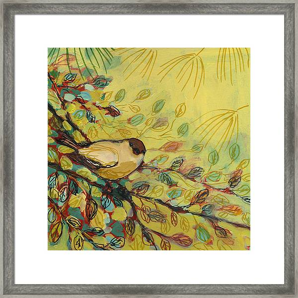 Goldfinch Waiting Framed Print