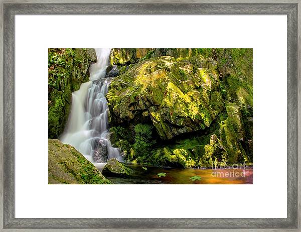 Goldmine Brook Falls Chester Ma Framed Print