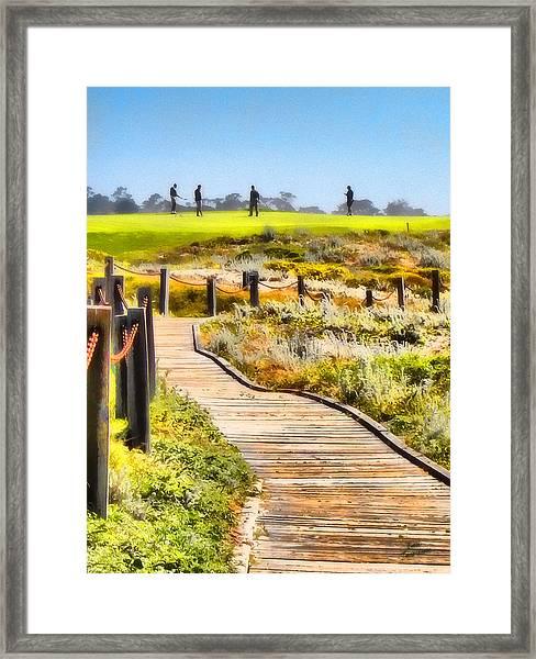 Golf At Pebble Beach Framed Print