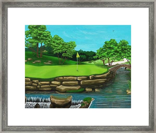 Golf Green Hole 16 Framed Print