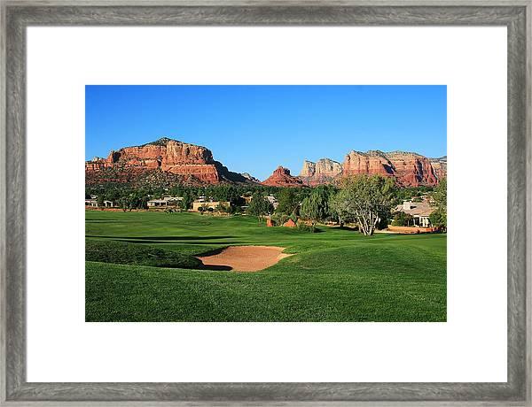 Golf In Paradise Framed Print