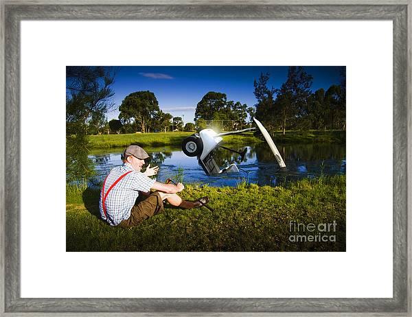 Golf Problem Framed Print