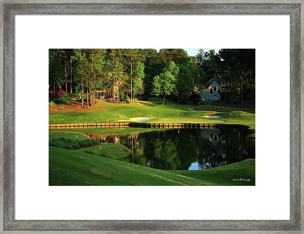 Golf The Landing #3 Reynolds Plantation Lake Oconee Ga Art Framed Print