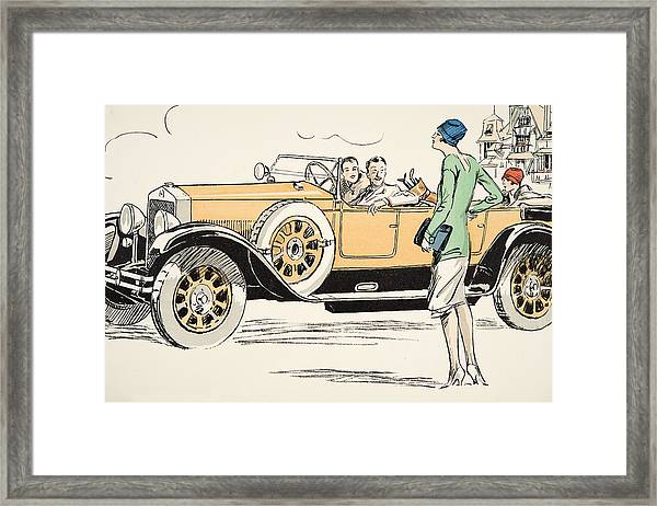 Golfing At Deauville Framed Print