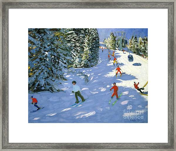 Gondola Austrian Alps Framed Print