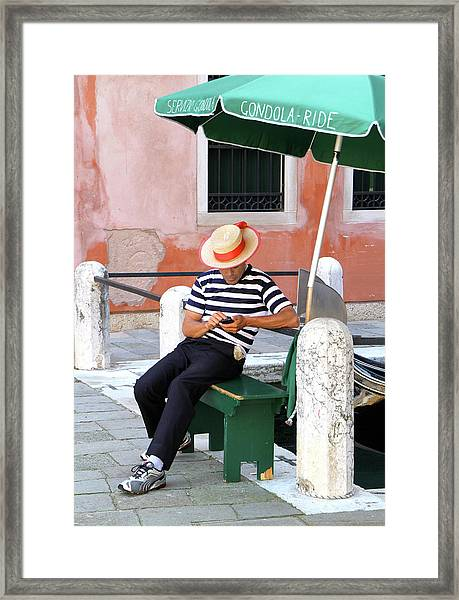 Gondola For Hire Framed Print