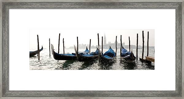 Gondole In Bacino 2078 Framed Print