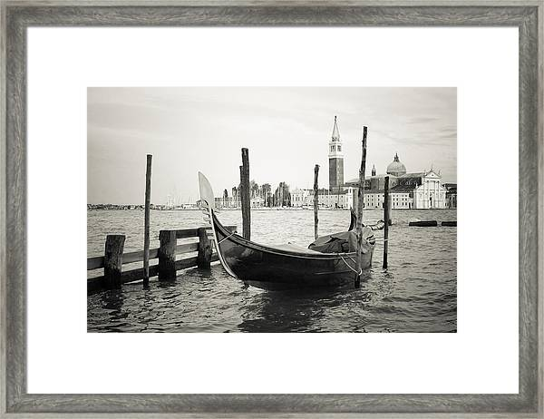 Gondola In Bacino S.marco S Framed Print