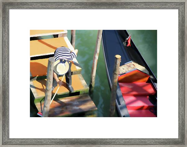 Gondola Morning Chores Framed Print