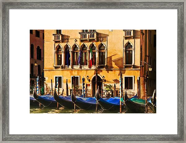 Gondola Parking Only Framed Print