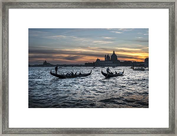 Gondole Al Tramonto Sam210x Framed Print