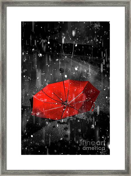 Gone With The Rain Framed Print