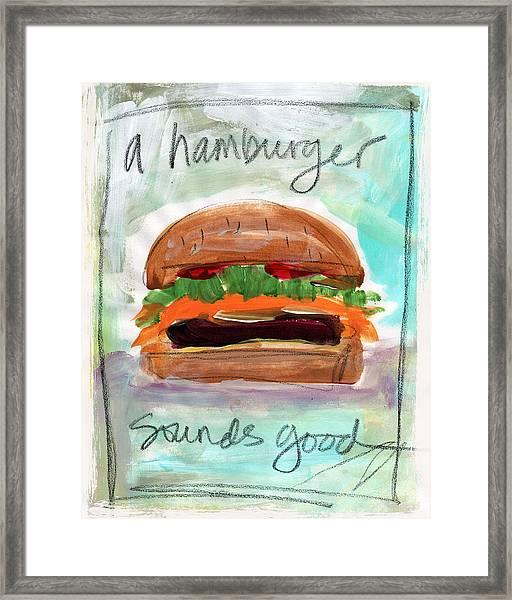 Good Burger Framed Print