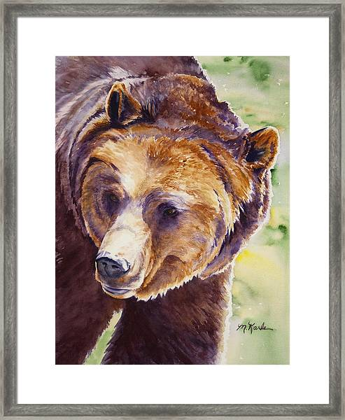 Good Day Sunshine - Grizzly Bear Framed Print