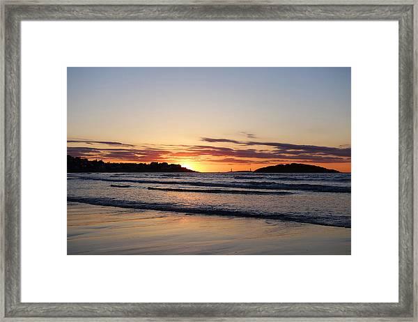 Good Harbor Beach At Sunrise Gloucester Ma Framed Print