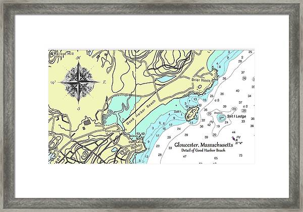 Good Harbor Beach Framed Print
