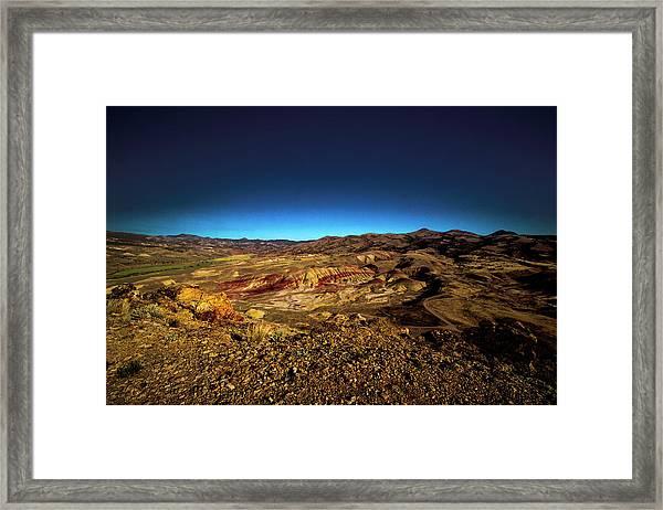Good Morning From The Oregon Desert Framed Print