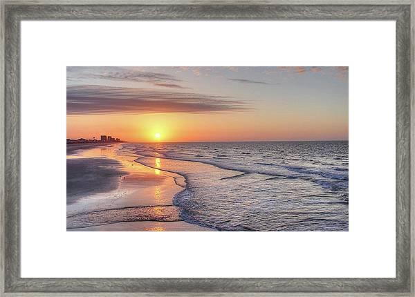 Good Morning Grand Strand Framed Print
