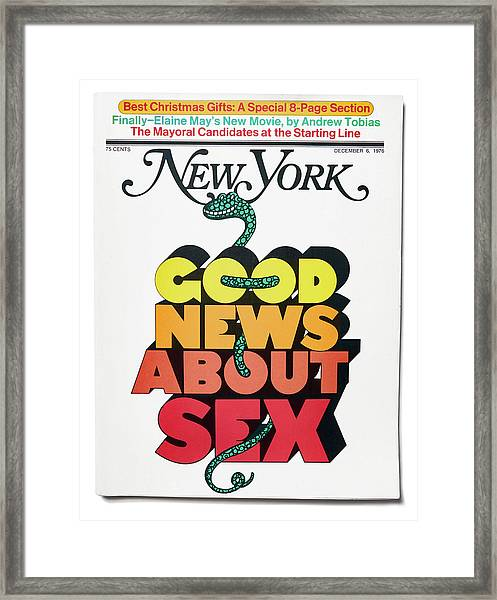 Good News About Sex Framed Print