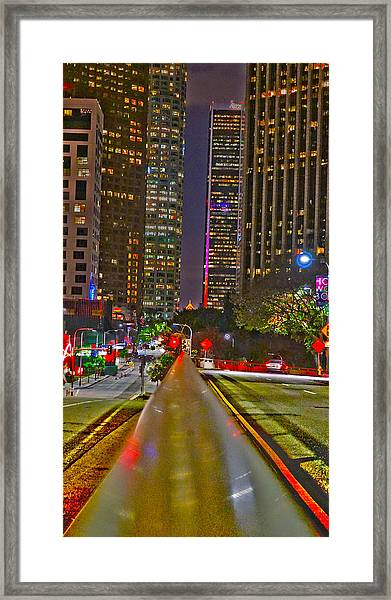 Good Night To Night Lights Framed Print