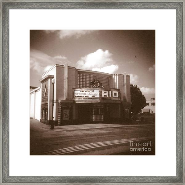 Good Time Theater Framed Print