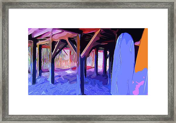 Framed Print featuring the digital art Good Vibrations by Gina Harrison