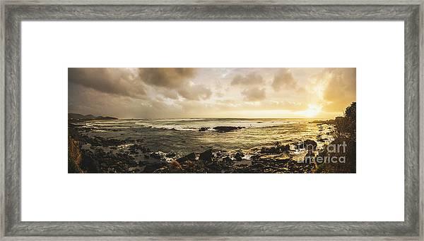 Goodbye Sunshine Framed Print