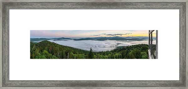 Goodnow Mountain Panorama Framed Print