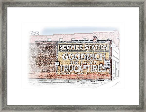 Goodrich Tires Framed Print