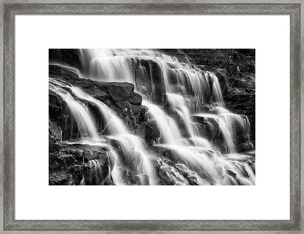 Goosebeery Falls Framed Print