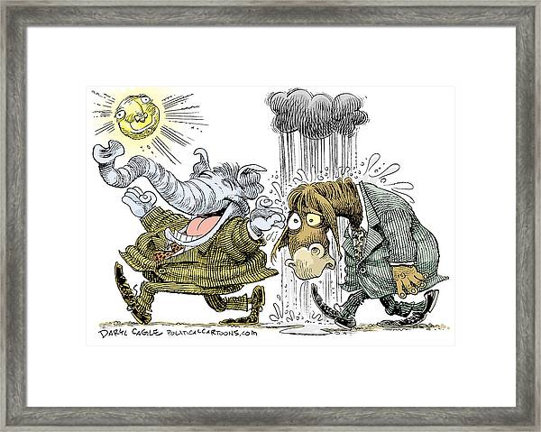 Gop Glee And Dem Doom Framed Print