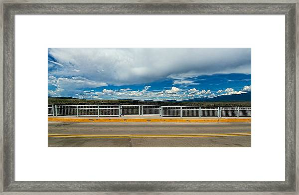 Framed Print featuring the photograph Gorge Bridge North View by Britt Runyon
