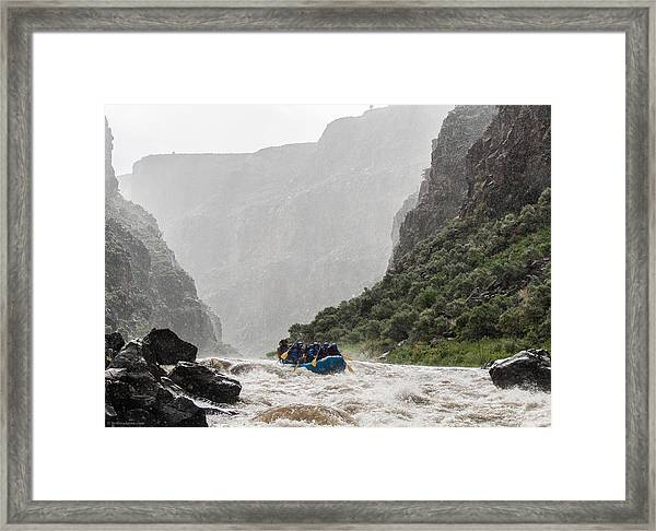 Framed Print featuring the photograph Gorge Squall by Britt Runyon
