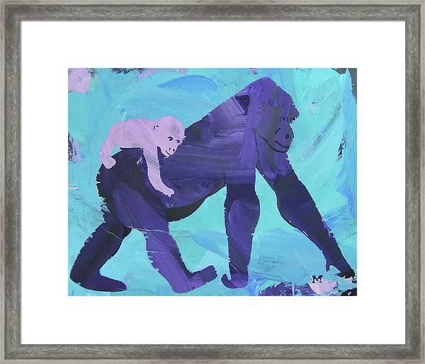 Framed Print featuring the painting Gorgeous Gorilla by Candace Shrope