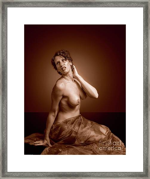 Gorgeous Nude. Framed Print