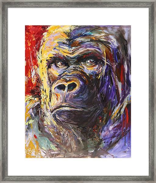 Gorilla Art Framed Print