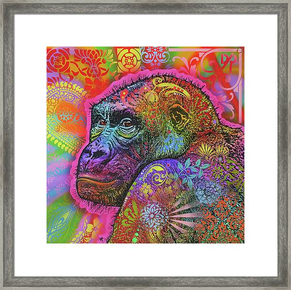 Gorilla Framed Print by Dean Russo Art