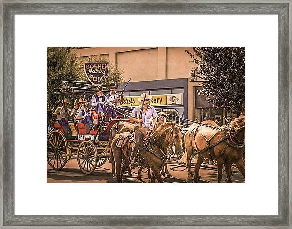 Goshen Mounted Police Framed Print