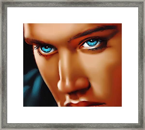 Gospel Elvis Framed Print