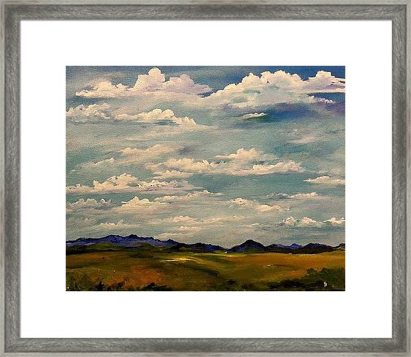 Got Clouds Framed Print