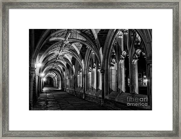 Gothic Arches Framed Print