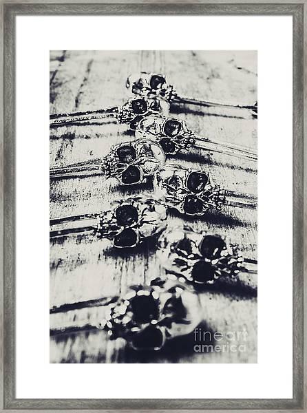 Gothic Skull Pins Framed Print