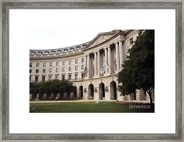Government Achitecture In Washington Dc Framed Print