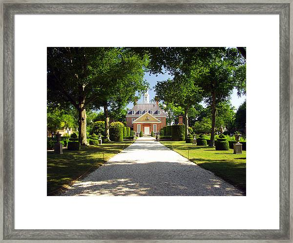 Governors Palace II Framed Print